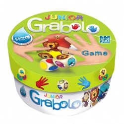 GRABOLO JUNIOR party game per tutti CARTE E DADI età 4+ GIOCO abilità animali GAME FACTORY