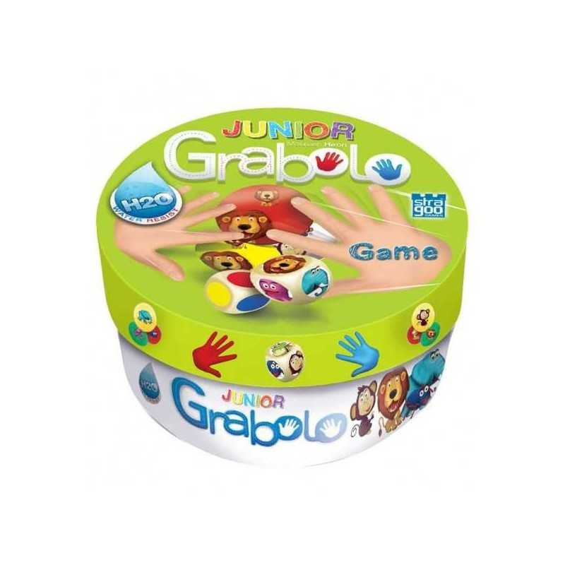 GRABOLO JUNIOR party game per tutti CARTE E DADI età 4+ GIOCO abilità animali GAME FACTORY