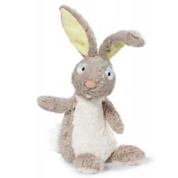 CONIGLIO BEIGE pupazzo PELUCHE bambola morbida NICI coniglietto 3 ANNI + in piedi