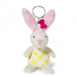 Portachiavi CONIGLIO BIANCO pupazzo PELUCHE bambola NICI coniglietto DA 3 ANNI IN SU 10 cm PORTA CHIAVI