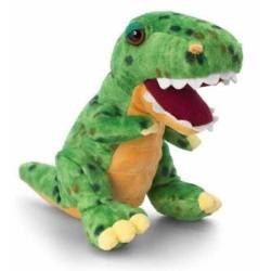 PELUCHE tirannosauro DINOSAURO t-rex KEEL TOYS 25 cm VERDE pupazzo bambola FATTO A MANO