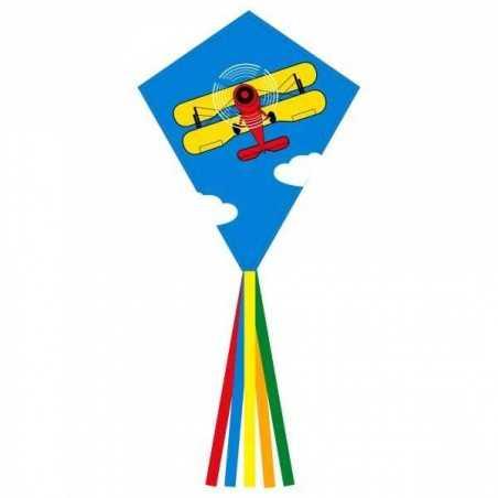 AQUILONE MONOFILO ECOLINE EDDY BIPLANE 70 CM single line kite INVENTO HQ età 5+