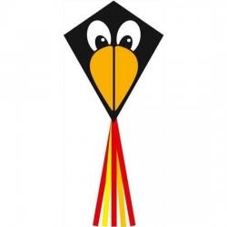 AQUILONE MONOFILO ECOLINE kids EDDY RAVEN 70 CM single line kite INVENTO HQ età 5+