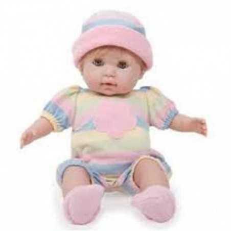 BAMBOLA BEBE' bebè VESTITO A RIGHE 38 cm BERENGUER Boutique DOLL bebe PUPAZZO bambolotto NONIS 2+