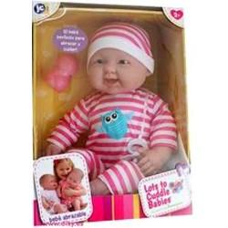 BAMBOLA BEBE' bebè PIGIAMA A RIGHE 51 cm BERENGUER Boutique DOLL bebe PUPAZZO bambolotto NEONATO età 2+