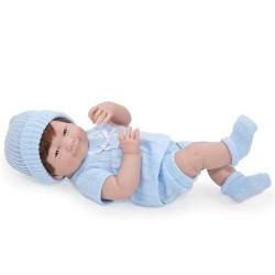 BAMBOLA BEBE' bebè AZZURRO 38 cm BERENGUER Boutique DOLL bebe PUPAZZO certificato di nascita 2+