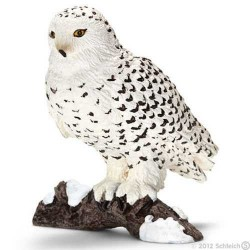 CIVETTA DELLE NEVI animali in resina SCHLEICH miniature 14671 wild life GUFO