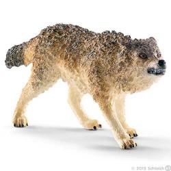 LUPO FEROCE animali in resina SCHLEICH miniature 14741 wild life WOLF