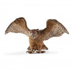 GUFO animali in resina SCHLEICH miniature 14738 wild life UCCELLO