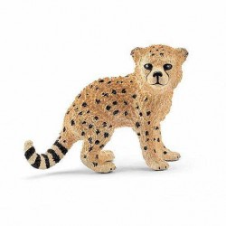 GHEPARDO CUCCIOLO 2016 animali in resina SCHLEICH miniature 14747 Wild Life CHEETAH