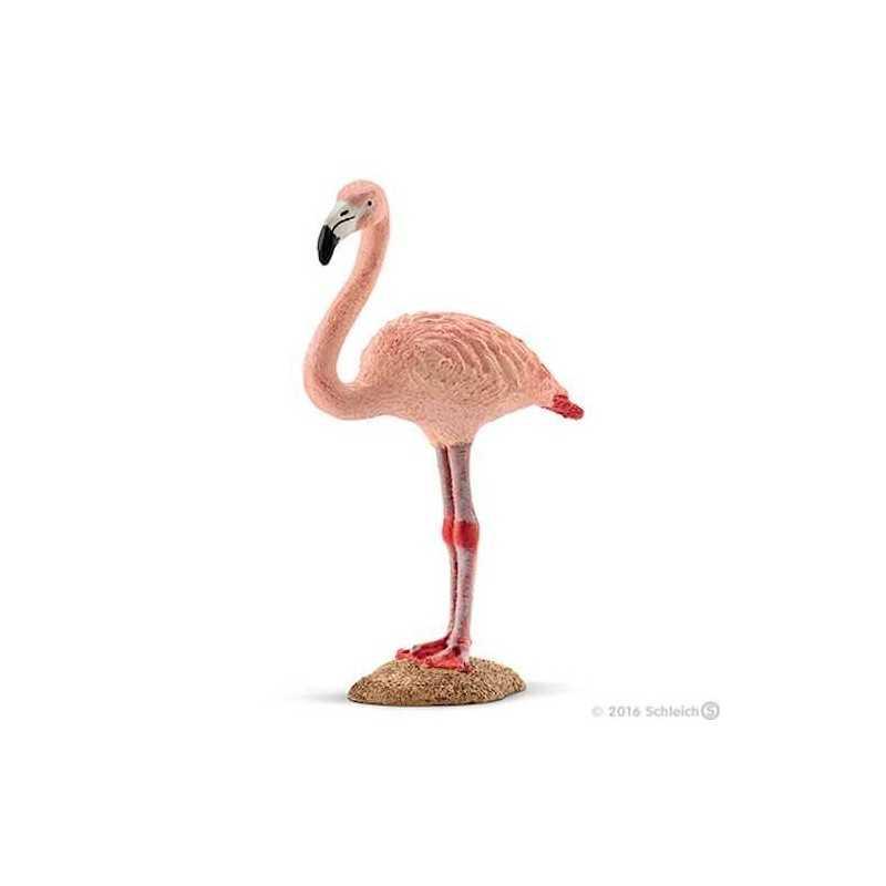 FENICOTTERO ROSA animali in resina SCHLEICH miniature 14758 uccello WILD LIFE