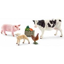 KIT PRIMI ANIMALI DELLA FATTORIA set da gioco FARM LIFE Schleich 41424 ANIMALI miniature in resina CAVALLI