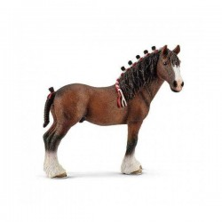 CASTRONE CLYDESDALE animali in resina SCHLEICH miniature 13808 Farm Life CAVALLO 3+