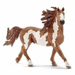 STALLONE PINTO animali in resina SCHLEICH miniature 13794 Farm Life CAVALLO 3+
