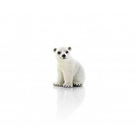 ORSO POLARE CUCCIOLO animali SCHLEICH miniature in resina WILD LIFE gioco 14660 età 3+