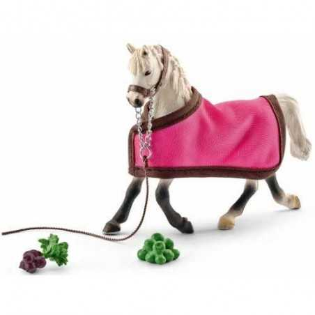 SET GIUMENTA ARABA CON COPERTA kit da gioco FARM LIFE Schleich 41447 miniature in resina CAVALLI età 3+