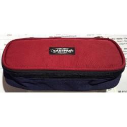 ASTUCCIO Eastpak OVAL BLOCNOTE BLU tasca interna con zip e divisoria porta penne TRICOLOR cod. EK717
