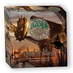 INCREDIBLE EXPEDITIONS Quest for Atlantis Steampunk Board game gioco da tavolo avventura