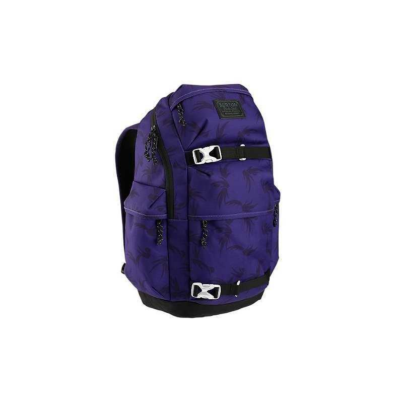 ZAINO BURTON KILO PACK GRAPE MODERN FLORAL viola purple uva