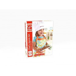 SET GREMBIULE PER CUOCHI con guanto e cappello da chef HAPE kit cucina 3 ANNI +