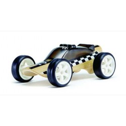 MACCHINA DELLA POLIZIA auto in legno BAMBOO macchinine HAPE mini veicoli GIOCO età 3+