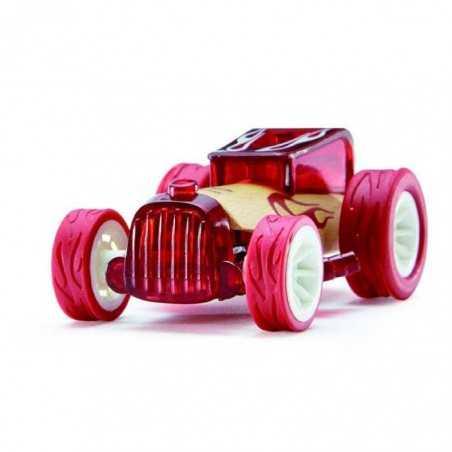 BRUISER ROSSA auto in legno BAMBOO macchinine HAPE mini veicoli GIOCO età 3+