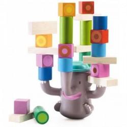 Big Boum BIGBOUM Djeco GIOCO DI EQUILIBRIO elefante IN LEGNO E PLASTICA età 2+