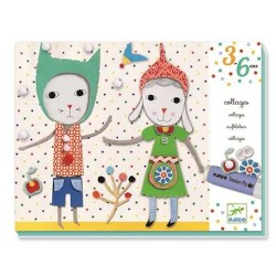 Collage per i piccoli COLLAGES TOUT DOUX Soft GIOCO Djeco KIT ARTISTICO creativo 3 - 6 ANNI
