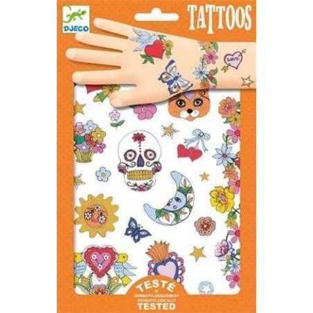 TATUAGGI FESTA MESSICANA tattoo per bambini DJECO DJ09578 rimuovibili con acqua