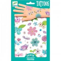 TATUAGGI PRINCIPESSA DEI FIORI tattoo per bambini DJECO DJ09585 rimuovibili con acqua