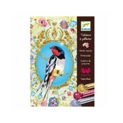 """Peintures paillettes oiseaux """"Djeco, âgés de 6 à 12 ans"""