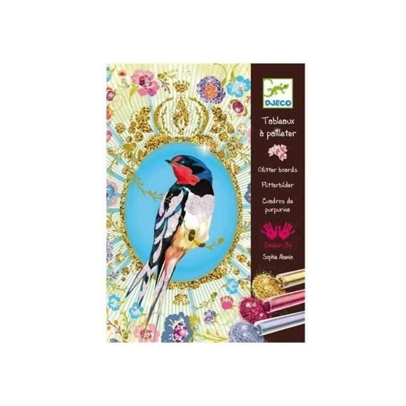 "Paintings glitter birds ""Djeco, age 6-12 years"