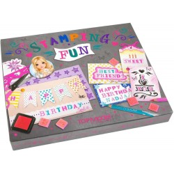 STAMPING FUN set CREA I TUOI AUGURI kit creativo TOP MODEL artistico BIGLIETTI INVITI AUGURI Topmodel