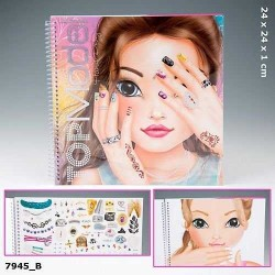 ALBUM HAND DESIGNER nail art TOP MODEL Create your TOPMODEL mani UNGHIE creativo artistico da colorare
