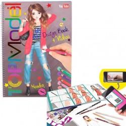 ALBUM DESIGN BOOK + video TOP MODEL Create your TOPMODEL con tutorial LOOK creativo artistico da colorare