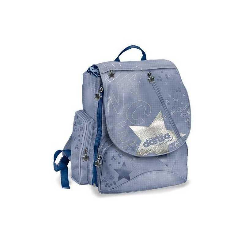 bellissimo aspetto chiaro e distintivo goditi il miglior prezzo EXtensible ZAINO SIZE DANZA school folder back pack WITH SACCA GYM wins  flower VIOLA blue indigo