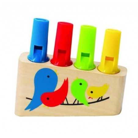 FLAUTO DI PAN in legno HAPE strumento musicale per bambini 4 NOTE età 3 anni +