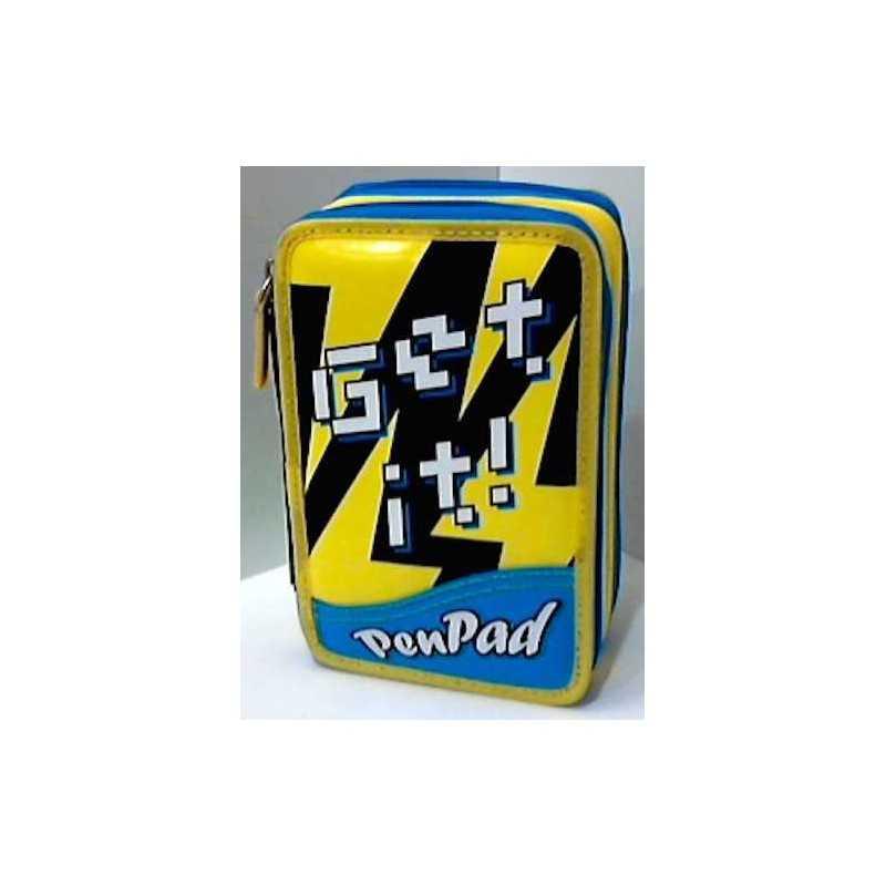 ASTUCCIO SEVEN 3 zip GET IT! it ! PEN PAD 3 scomparti GIALLO super accessoriato INNOVATION LAB 7.1 penpad LAVABILE