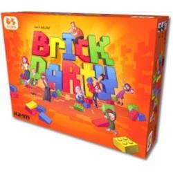 BRICK PARTY edizione italiana GIOCO DA TAVOLO di società DIVERTENTE forme MATTONCINI età 5+
