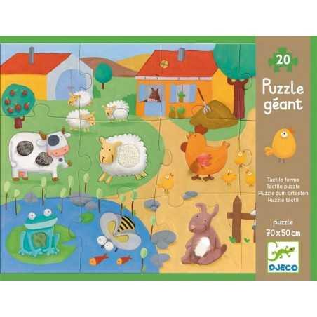 "Puzzle tattile gigante ""Fattoria"", 20 pz, età 3+"