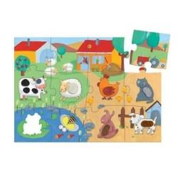Puzzle géante tactile « ferme », 20 pièces, âge 3 +