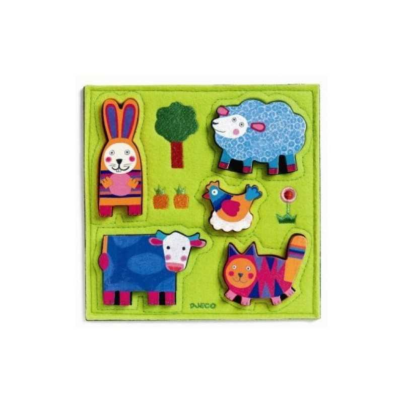 "Puzzle ""Happy Farm"" by 12 months"