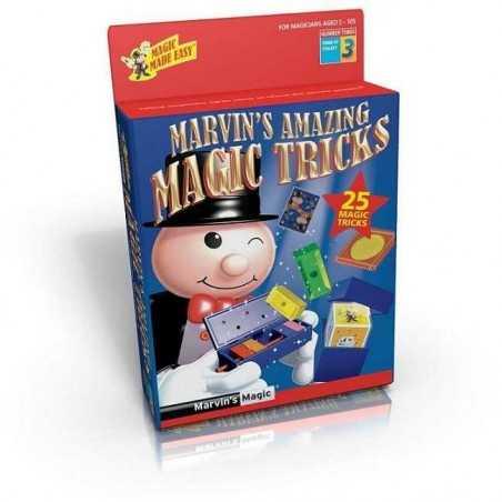 Marvin's Magic AMAZING TRICKS Made Easy 25 TRUCCHI MAGICI magia KIT prestigiatore ROSSO 3 illusionista 6+