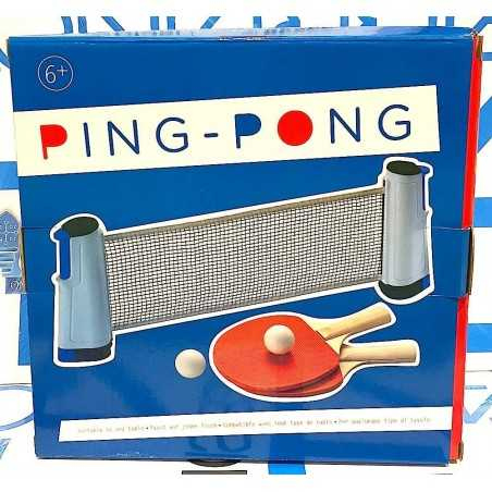 PING PONG tennis DA TAVOLO portatile MINI selegiochi RETE RACCHETTE PALLINE età 6+