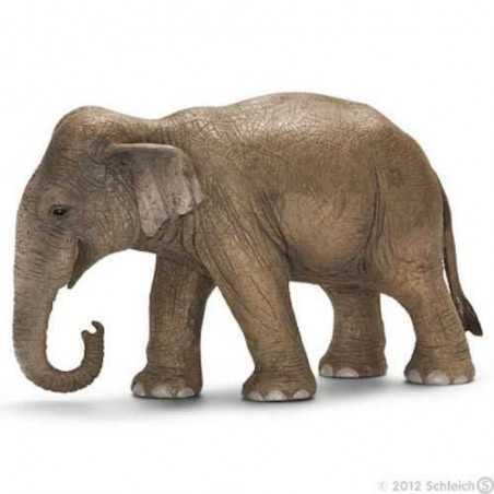 ELEFANTE ASIATICO FEMMINA animali in resina SCHLEICH miniature 14654 Wild Life