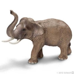 ELEFANTE ASIATICO MASCHIO animali in resina SCHLEICH miniature 14653 Wild Life