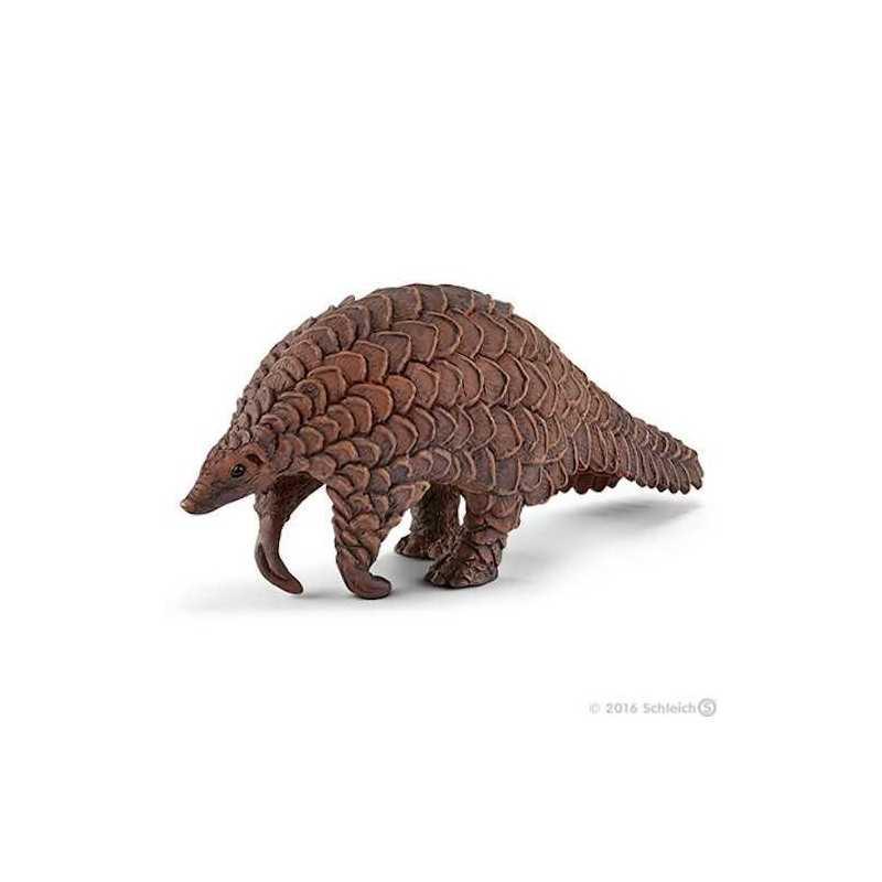 PANGOLINO GIGANTE animali in resina SCHLEICH miniature 14757 Wild Life GIANT PANGOLIN armadillo