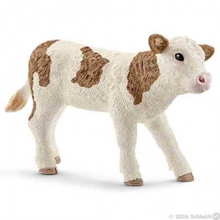 VITELLO PEZZATO ROSSO SIMMENTAL animali in resina SCHLEICH miniature 13802 Farm Life CALF