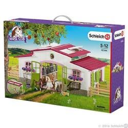 CENTRO DI EQUITAZIONE con cavalli e accessori HORSE CLUB miniature in resina SCHLEICH 42344