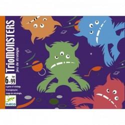 TRIOMONSTERS gioco di carte Djeco DJ05187 dai 6 anni mostri e logica